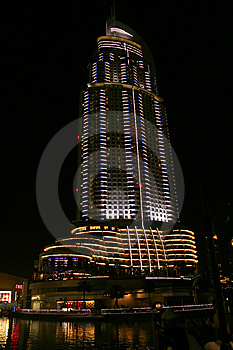 The Address Hotel, Dubai at night