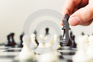 Plan leading strategy of successful business competition leader