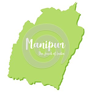 Manipur - `The Jewel of India` state in northeast India - Vector