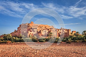 Kasbah Ait Ben Haddou in the Atlas Mountains of Morocco. UNESCO World Heritage.