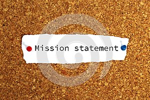 Mission statement heading