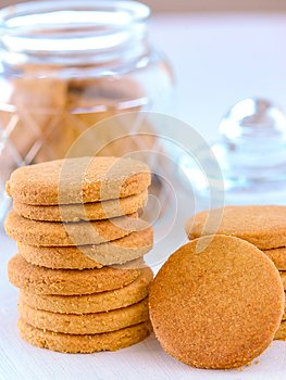Eggless butter cookies or biscuits