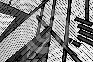 Black and white building lines