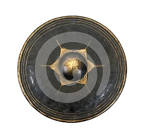 Old northern Thailand gong musical instrument isolated on white background