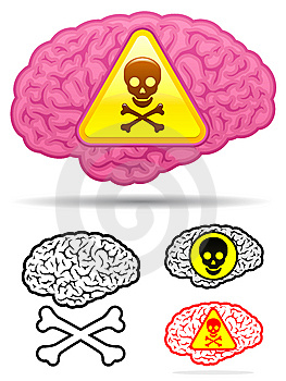 Danger skull brain collection