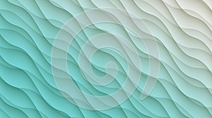 Aqua blue and white diagonal curves abstract wallpaper background illustration.
