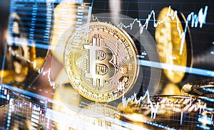 Fluctuating course of Bitcoin