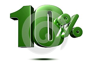 10 percent green 3d.with Clipping Path.