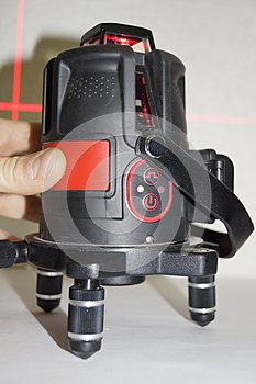 3D laser level with a red beam