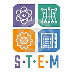 Illustration of Science, Technology, Engineering and Math education