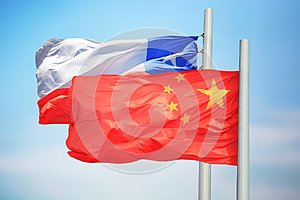 Flags of Chile and China