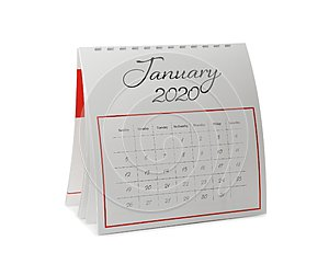 Paper calendar isolated. Planning concept