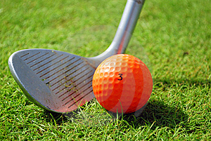 Golf-club and golf ball