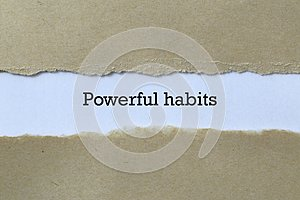 Powerful habits on paper