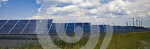 Industrial View Solar Panels