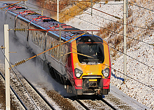 High Speed Train in the Snow