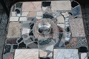Table made of stones