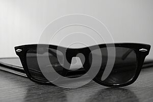Premium black stylish business man sunglasses