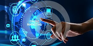 Business, Technology, Internet and network concept. Digital Marketing content planning advertising strategy concept. Online