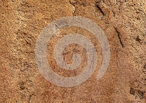 Ancient paintings on stones of the Erongo Mountains in northern Namibia