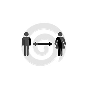 Social Distancing Icon Vector For Any Purposes