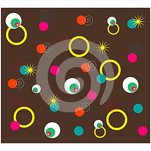 Abstract colorful circle wallpaper background design. Creative shape patterns