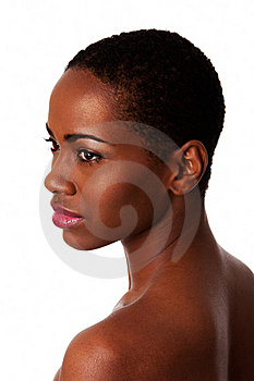 Beautiful face of African woman with good skin