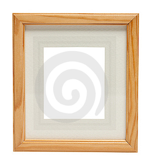 Cute Wooden picture frame (with clipping path)