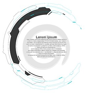 Abstract looped graphic, futuristic sense of technology.
