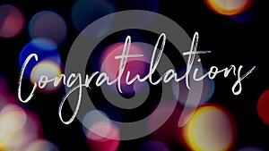 Congratulations congrats calligraphy text