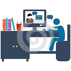Online education training and courses learning creative idea