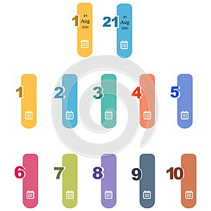 Visualized Numbers infographic template design