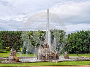 The Perseus and Andromeda Fountain at Witley Court, Worcestershire, England.