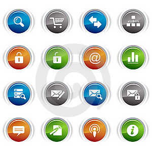 Glossy buttons - classic web icons