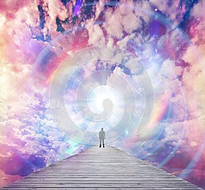 Soul journey, divine angelic guidance, portal to another universe, light being, unity wallpaper