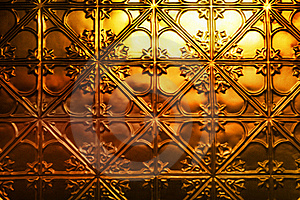 Christmas Gold Metal Background