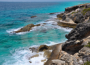 Beautiful sea. island Isla Mujeres (Women Island)