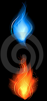 Little red and blue fire
