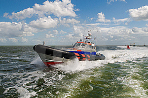 SAR rescue boat at sea