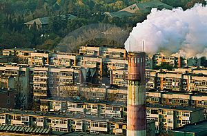 Smoke and air pollution in residental block