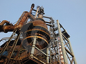 Old Steel  Factory In China.