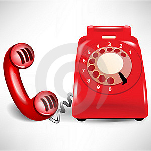 Retro dial telephone and receiver