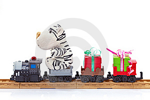 Toy train with gifts