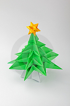Origami - a Christmas tree