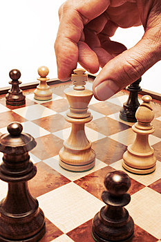 Chess Move Hand Business Strategy