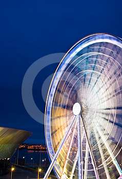 Liverpool ferris wheel in motion