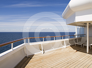 Deck of a cruise on a sunny day