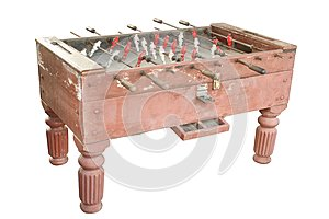 Old soccer table