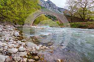 Arched stone bridge of Pyli, Thessaly, Greece