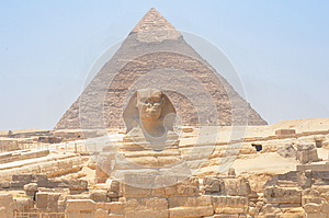 The Sphinx and Pyramid in Egypt